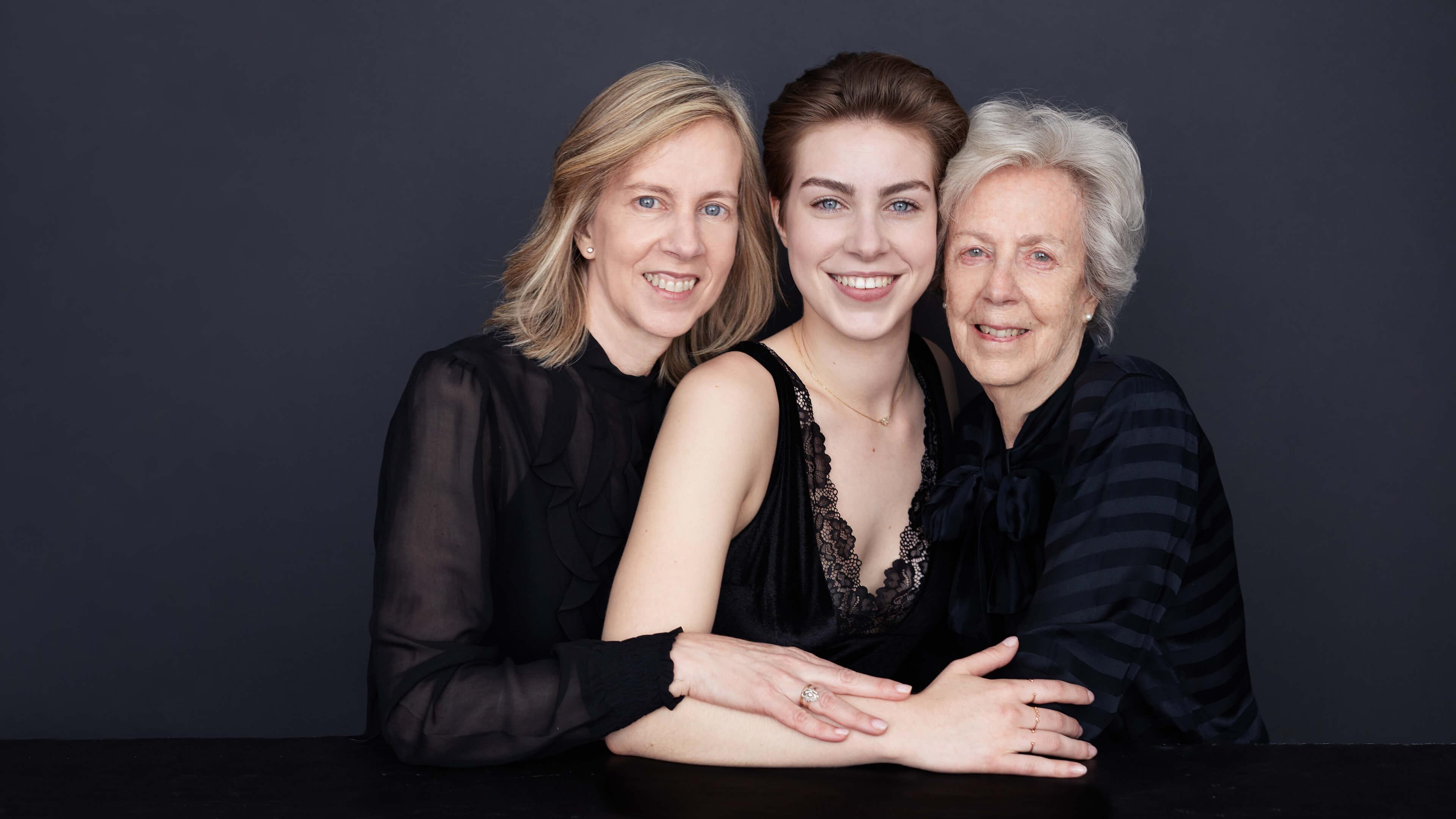 foto de tres generaciones