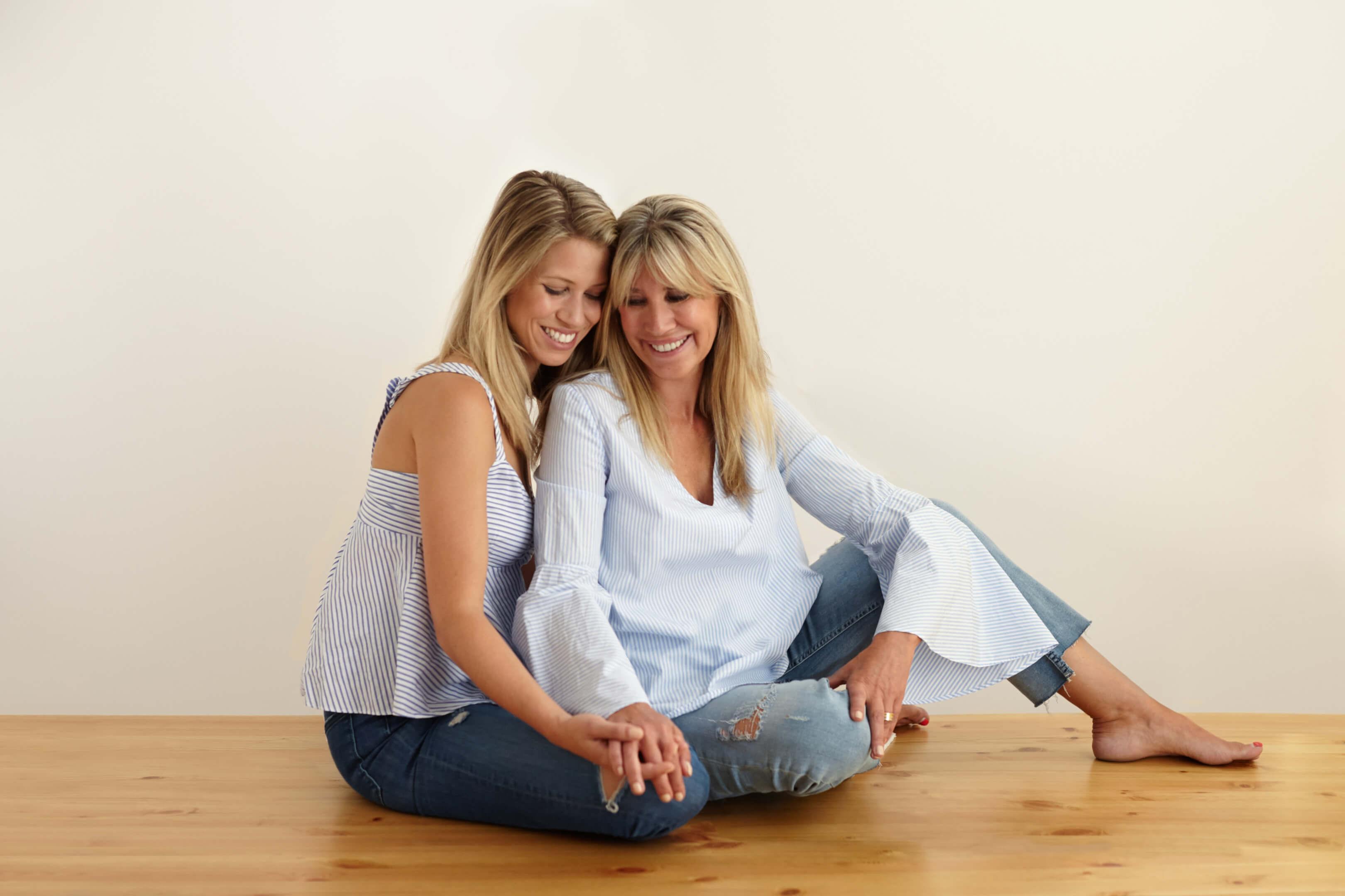poses madre hija para sesion de fotos